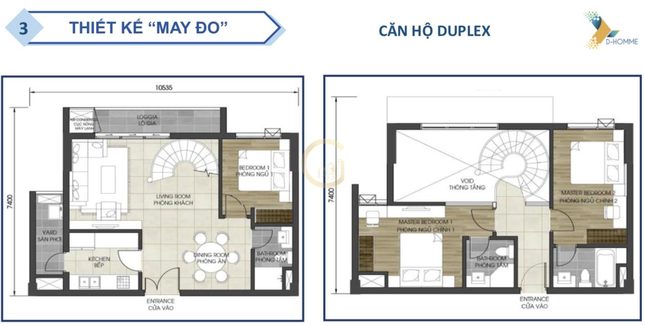 D-HOMME Căn hộ Duplex