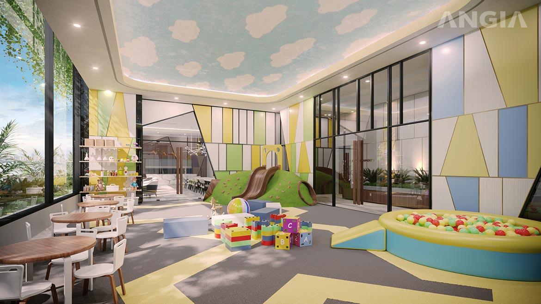 Tiện ích khu vui chơi trong nhà dự án căn hộ Signial quận 7 đường Hoàng Quốc Việt