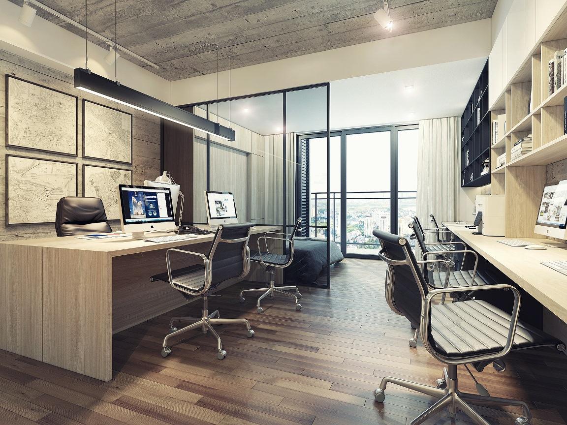 Thiết kế căn hộ Signial dự kiến cho căn hộ diện tích trung bình 35m2