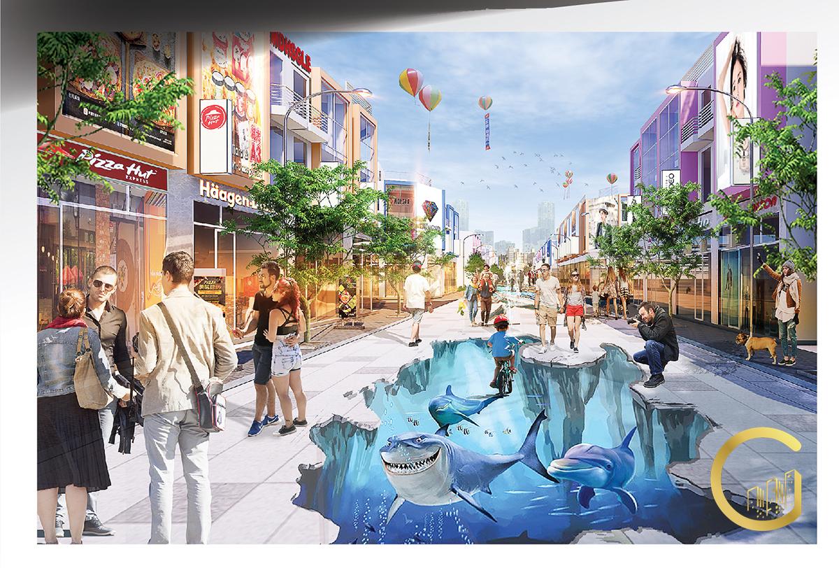 Tiện ích con đường 3D Khu Phức Hợp LIC CITY Phú Mỹ