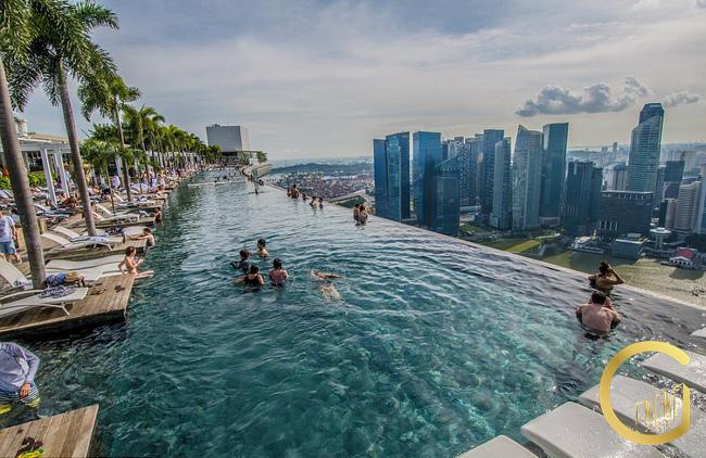 Hình ảnh minh họa hồ bơi tràn bờ sân thượng dự án The West City