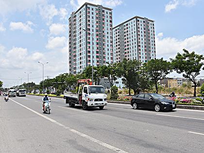 Một góc đô thị Phú Mỹ hiện nay.