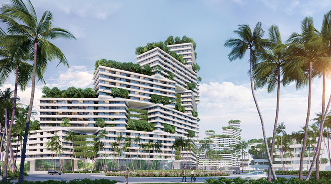 Chủ trương không bê tông hóa, đưa kiến trúc xanh từ ngoài vào trong nhà là một ưu điểm nổi trội của Thanh Long Bay