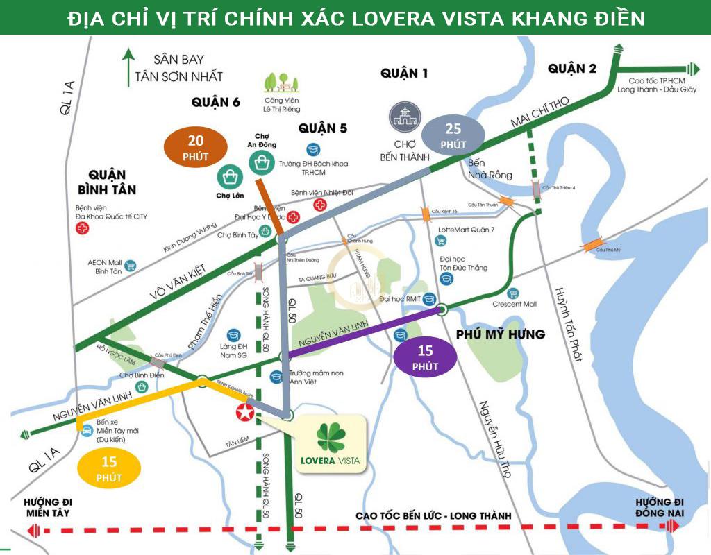 Địa chỉ vị trí chính xác Lovera Vista Khang Điền Bình Chánh HCM