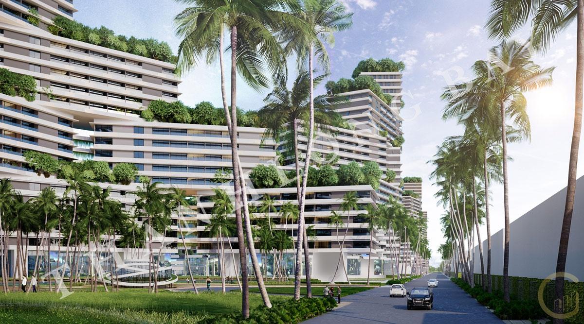 Dự án Thanh Long Bay Block căn hộ Sky Garden với công viên Nội Khu