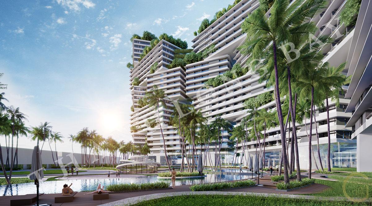 Phối cảnh dự án Thanh Long Bay Block Sky Garden