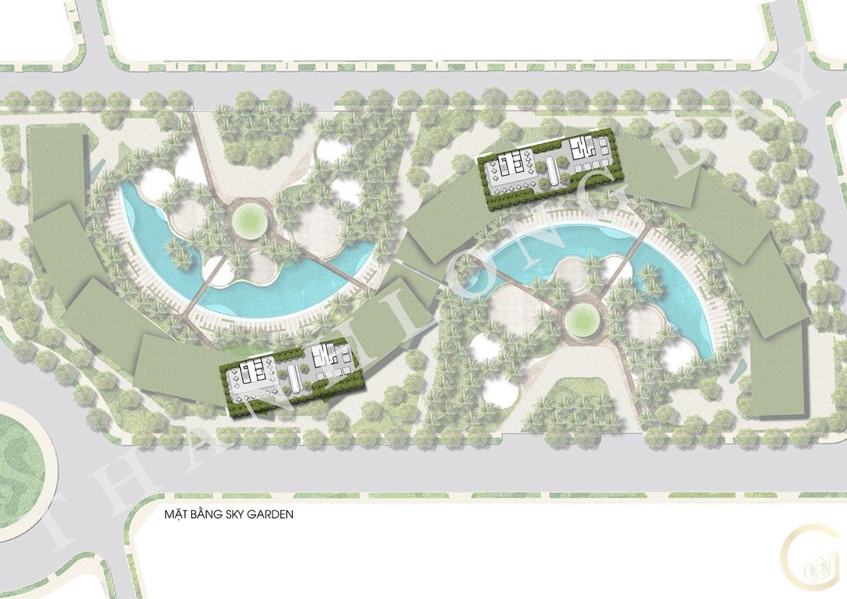 Dự án Thanh Long Bay mặt bằng tầng khu Sky Garden