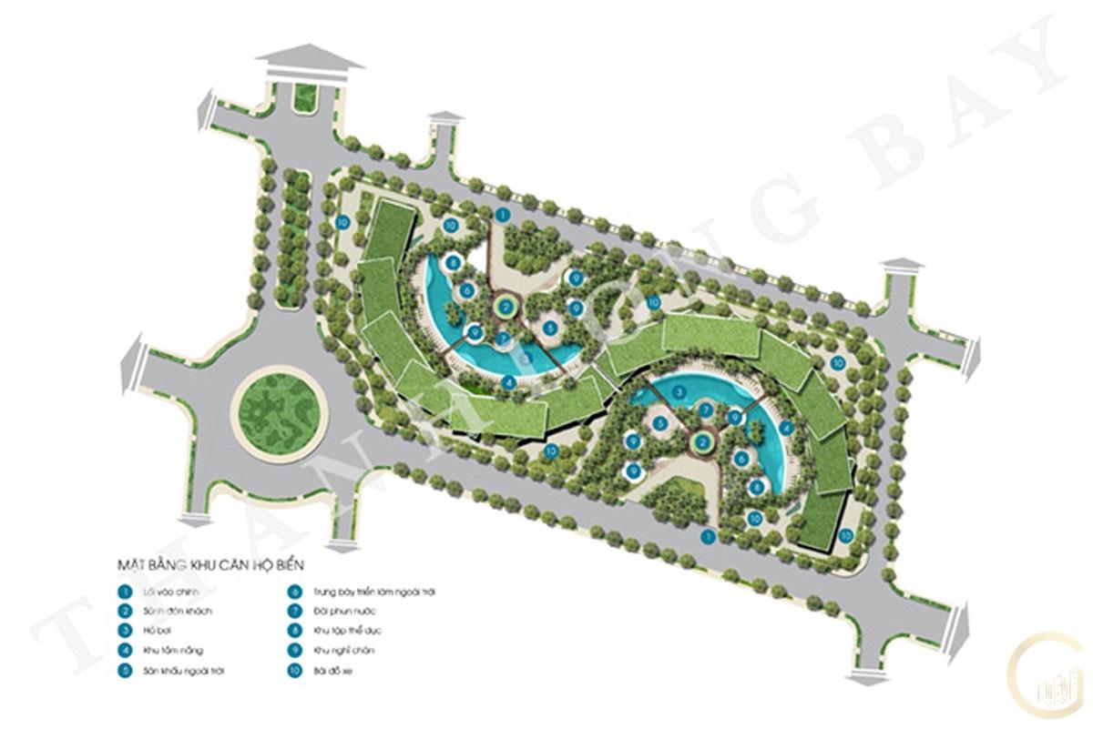 Dự án Thanh Long Bay mặt bằng tổng thể khu Sky Garden