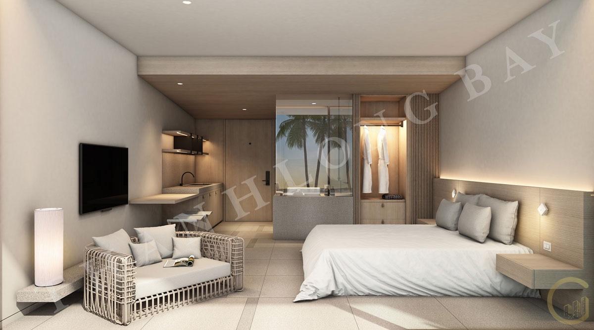 Dự án Thanh Long Bay Thiết kế Căn hộ 1 Phòng Ngủ Block Sky Garden