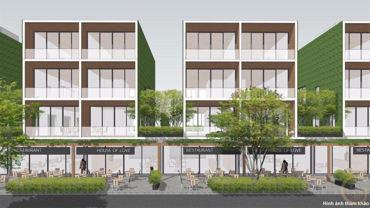 Phối cảnh khu nhà phố View Biển Thanh Long Bay Lagi