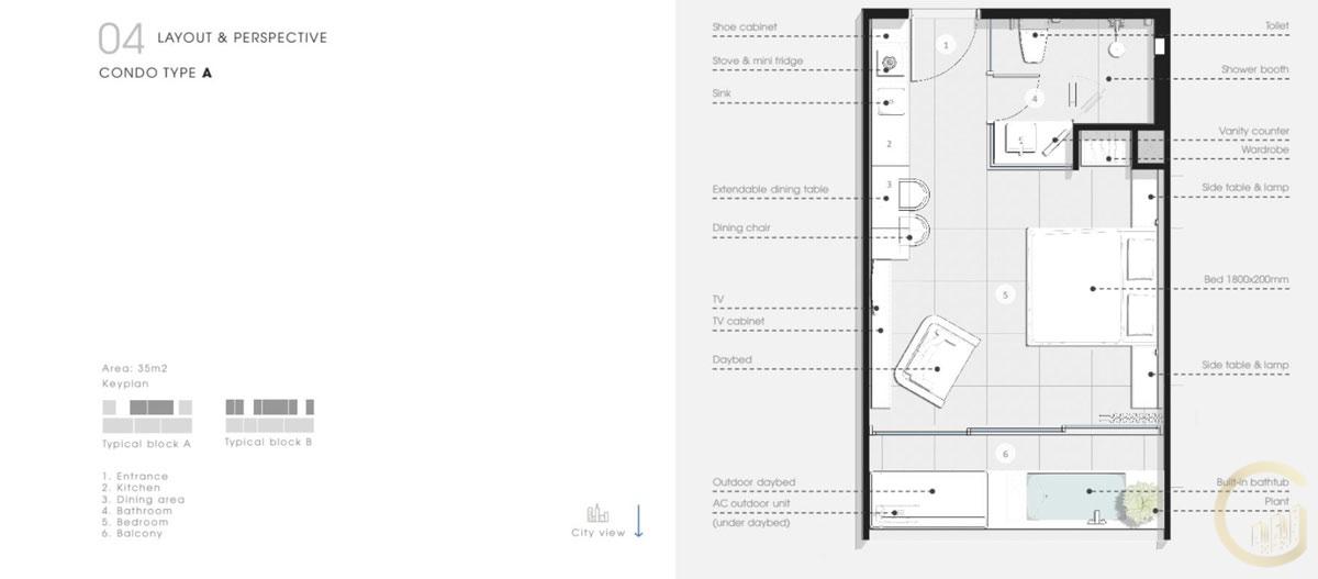 Thiết kế Căn hộ 1 Phòng Ngủ Thanh Long Bay