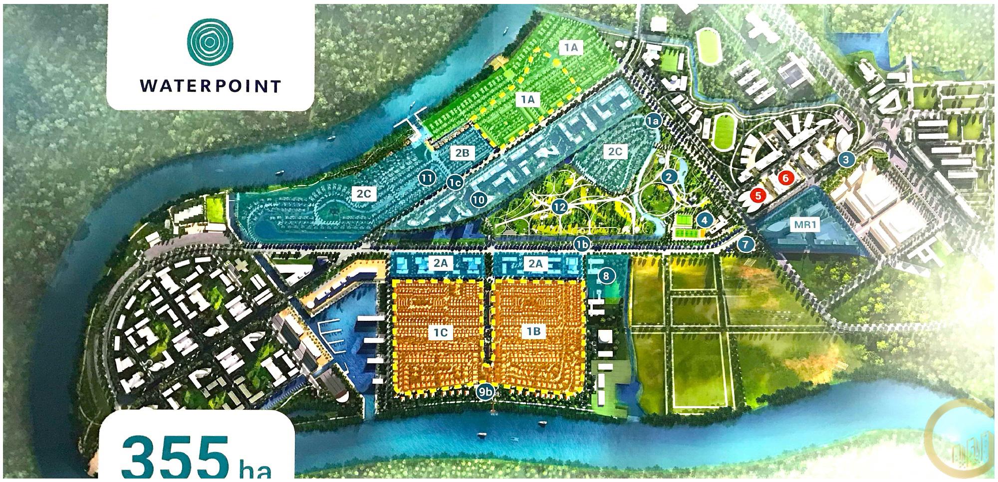 Mặt bằng dự án khu đô thị Water Point Long An