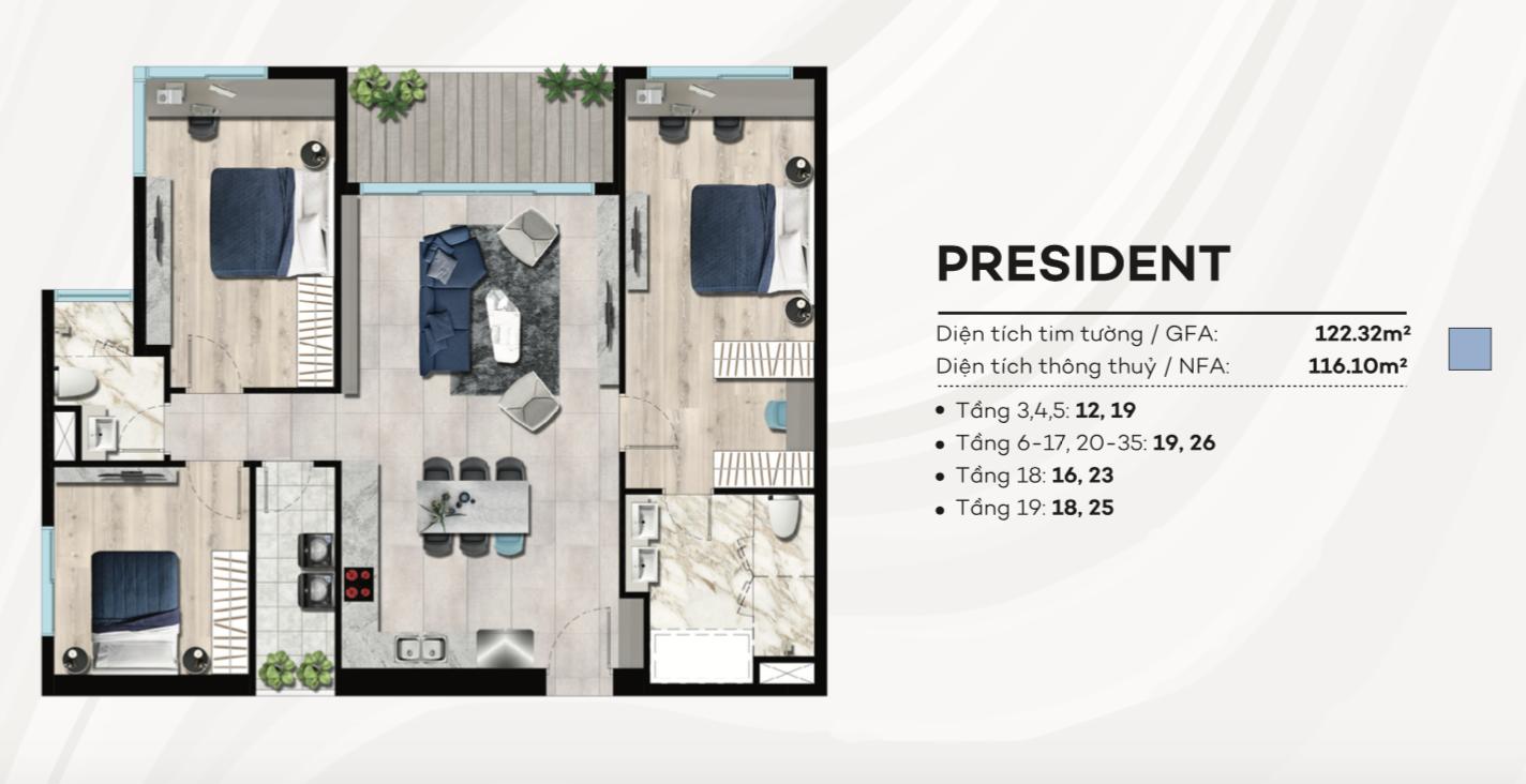Thiết kế căn hộ condotel The Sóng Vũng Tàu