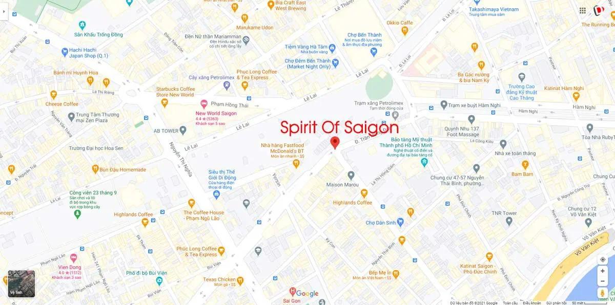 Vị trí dự án Spirit Of Saigon