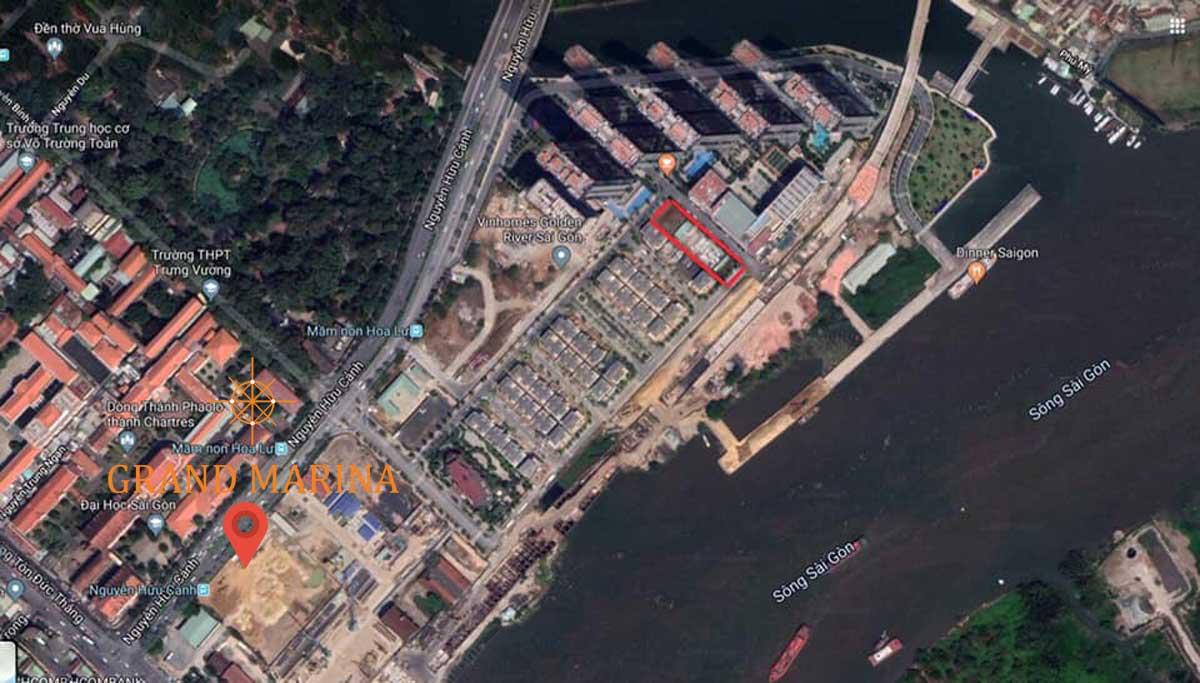 vi tri thuc te du an grand marina saigon - GRAND MARINA SAIGON QUẬN 1